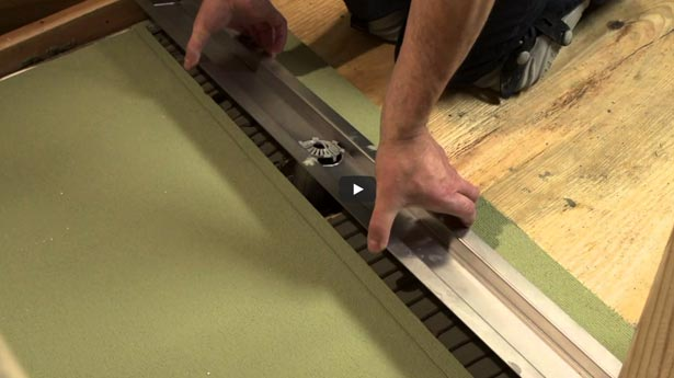 How to install a HYDRO BAN Barrier Free Shower Linear Drain - MO Tile