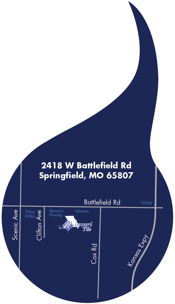 Map to Missouri Tile Springfield, MO