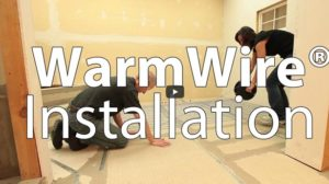 install a SunTouch WarmWire electric heating system